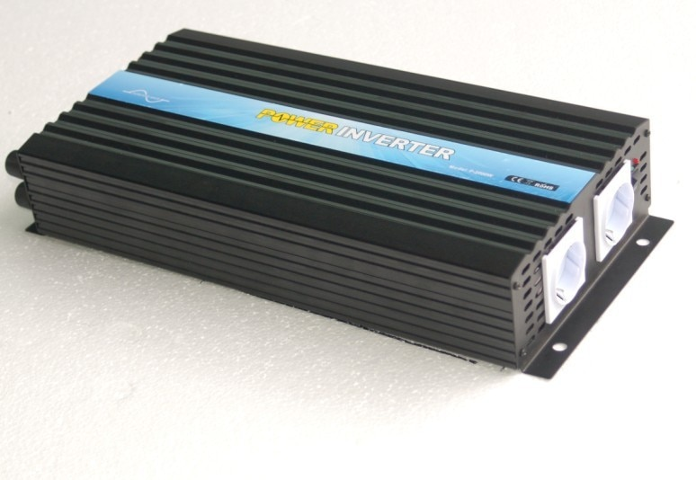 Onduleur solaire à onde sinusoïdale pure   CE & RoHS & SGS, sans grille, DC12v/24v/48v, 220v-240v, 2000w/2kw, vente en usine