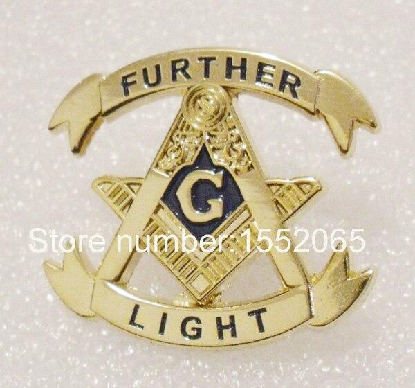 """Venta al por mayor 1,25 """"masonic más luz solapa pin regalos ornamentos artículos hermanos"""