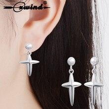 Cxwind nouvelle mode croix Dangle boucles doreilles bijoux Jesues croix lustre boucles doreilles déclaration pour les femmes meilleur cadeau oorbellen