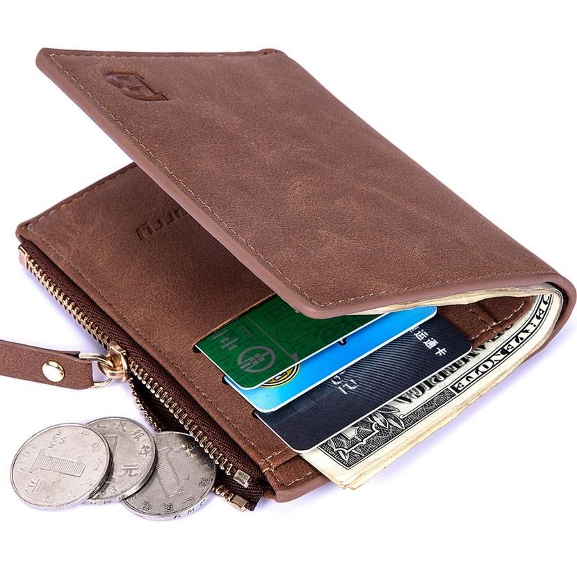 HUI MEN G долларовая цена с сумкой для монет, новые мужские кошельки на молнии, мужской бумажник, маленькие кошельки для денег, кошельки, хороший...