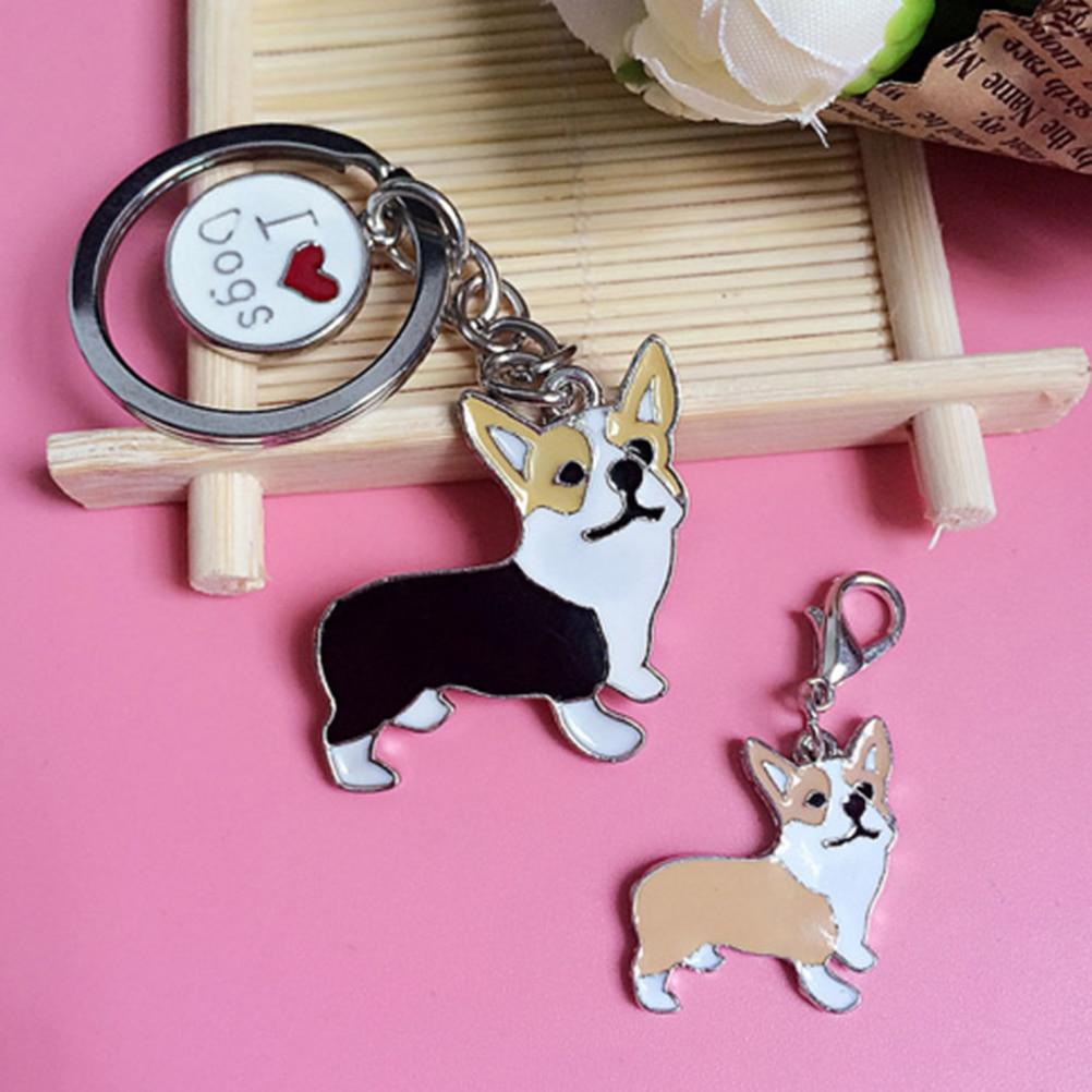 One Piece Lovely Corgi Figure Dogs Key Ring Cute Dog Shape Key Chain Shape Keychain Car Keyring Very Key gift