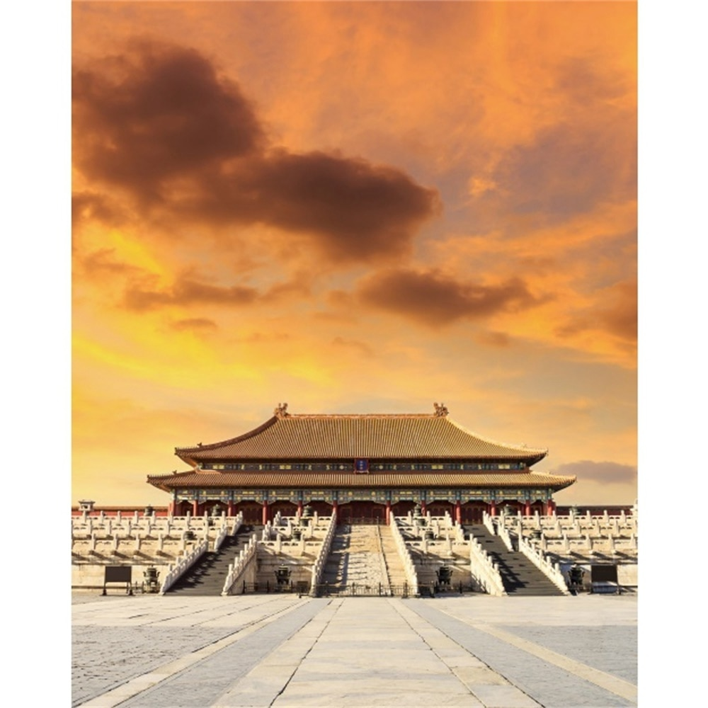 Laeacco Холст Картина с каллиграфией Запретный город Пекин плакаты восход солнца и принты настенные картины Гостиная украшение дома