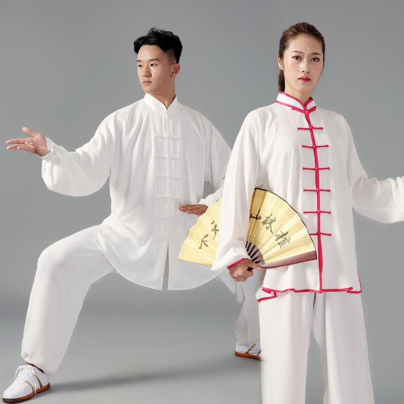 Hombres Mujeres artes marciales Tai Chi uniformes ropa china tradicional suelta manga larga Wushu Kung Fu traje de meditación ropa Unisex
