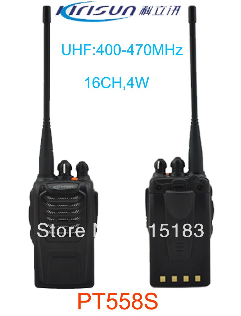 Nuevo 2013 Original paraguaya PT558S radio UHF 400-470 MHz walkie-talkie 4 W 16 canales portátil profesional jamón radio CB de dos vías