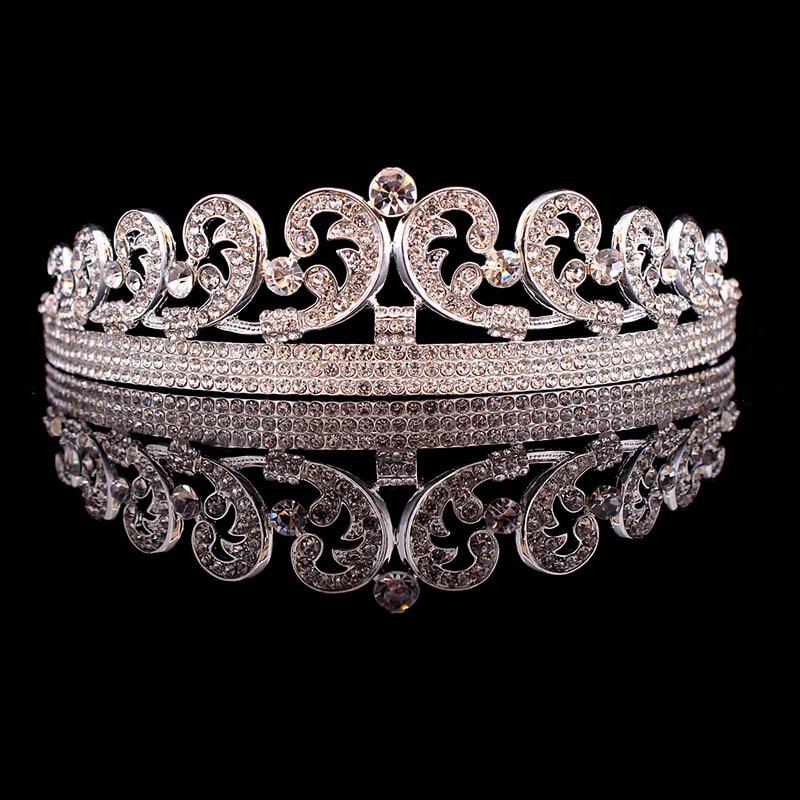 Тиара для новобрачных, тиара с кристаллами и стразами для свадьбы, кэтт Мидлтон, европейская корона для волос, аксессуары для волос