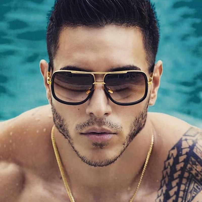 2021 New Fashion Big Frame Sunglasses Men Square Fashion Glasses for Women High Quality Retro Sun Gl