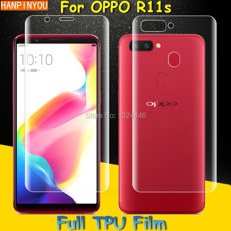 Front / Back Full Coverage Clear Soft TPU Film Screen Protector For OPPO R11s 6.01