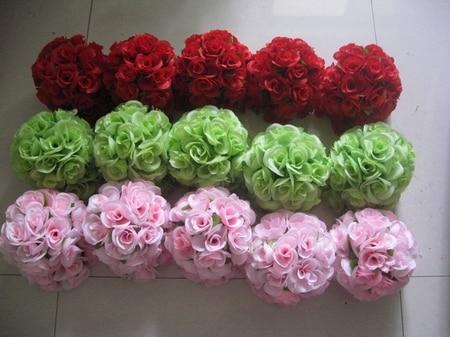 20cm rose ball wedding kissing flower ball decoration,8pcs/lot,celebration flower decoration ball,party decoration  20 colors