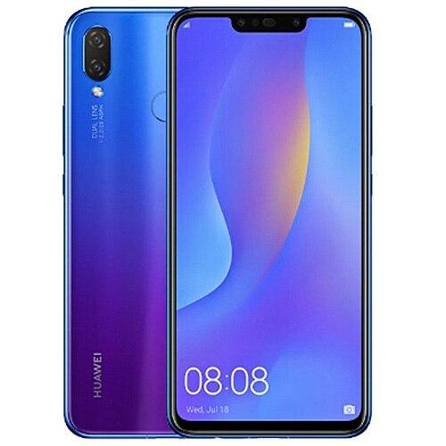 "Cargadores de coche HUAWEI nova 3i 4G Smartphone 6,3 ""Android 8,1 Kirin710 Octa Core 2,2 GHz 4GB 128GB 16.0MP + 3340 MP huellas dactilares teléfonos móviles mAh"