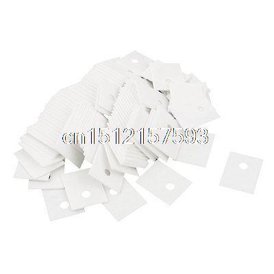 100Pcs TO-3P TO-247 20x25mm Transistor Heat Sink Ceramic Insulator Plates Sheet