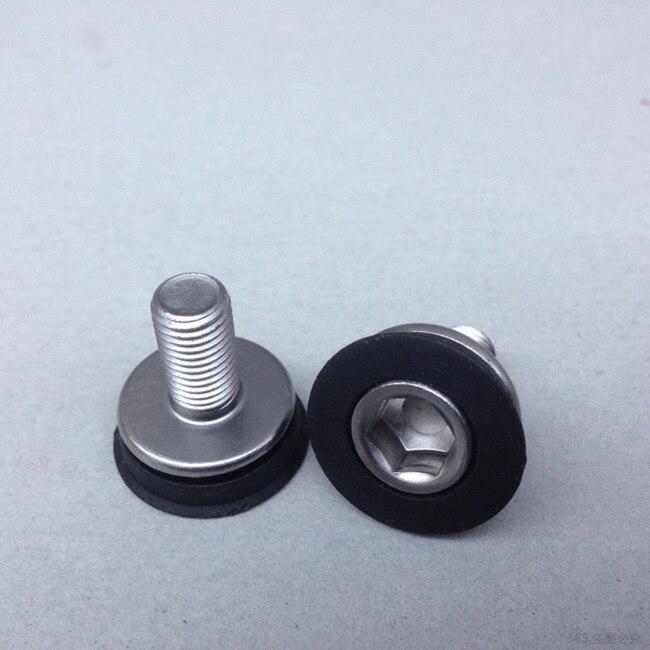 2 unids/lote cigüeñal de bicicleta de montaña pernos de cigüeñal de bicicleta tornillos del eje central M8 * 18mm tornillos de aluminio tuercas cigüeñal soporte inferior