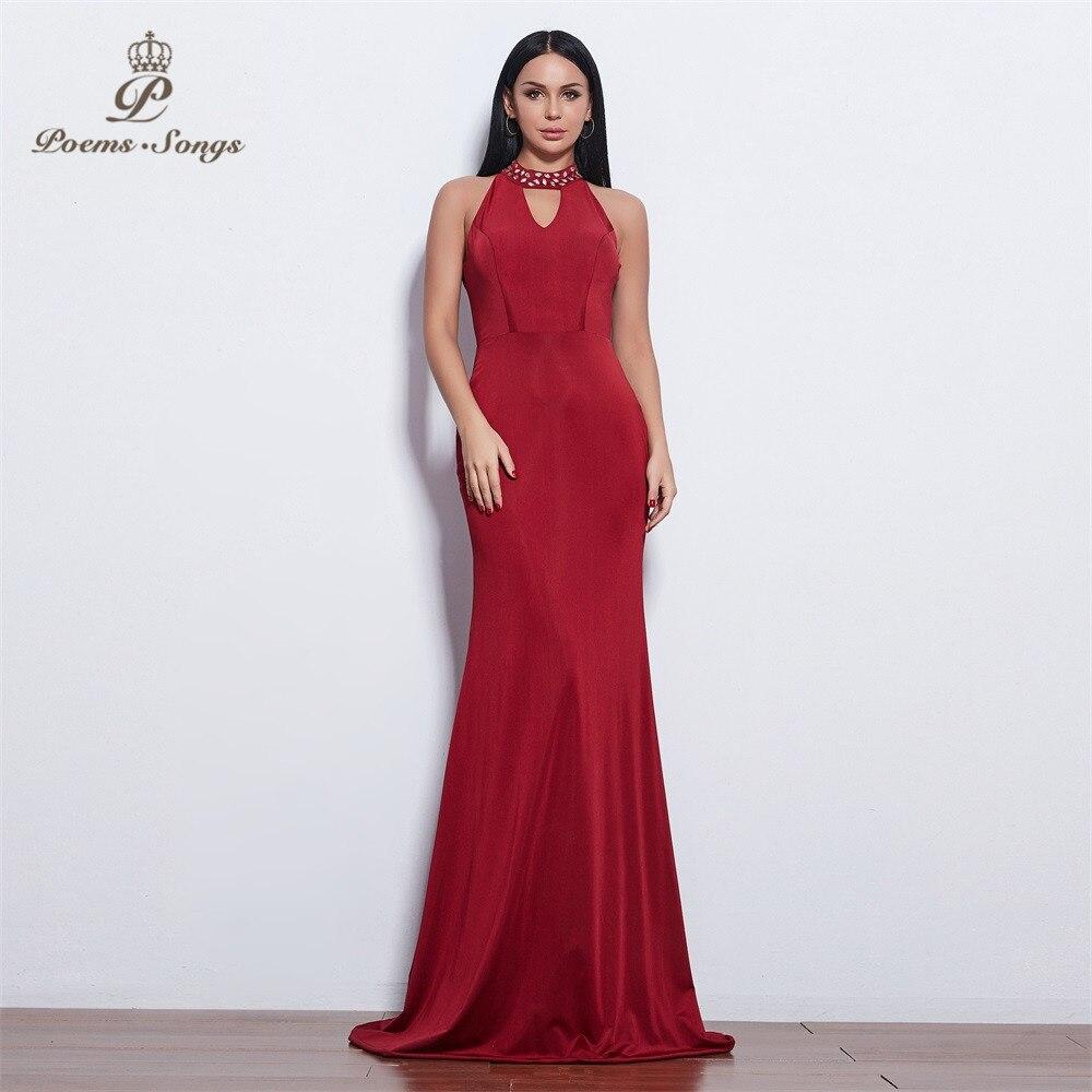 Poemas canções novo estilo elegante bonito atraente vestido de noite vestidos de baile vestido de festa formal vestido longo