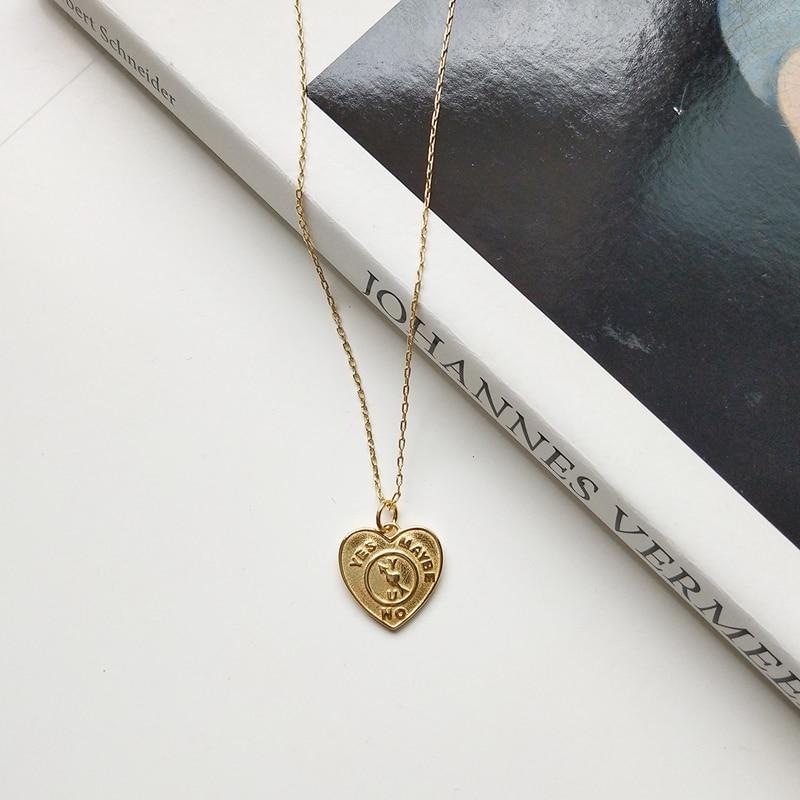 Louleur 925 colar de prata esterlina feminino, padrão de coração colar de ouro da moda para mulheres jóias de ouro 925 presente