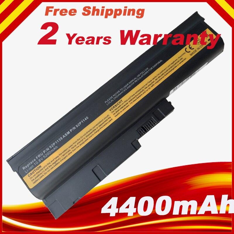 Batería del ordenador portátil para Lenovo R60e R61 T60 T60p T61 T61p R500 T500 W500 SL400 SL500 SL300