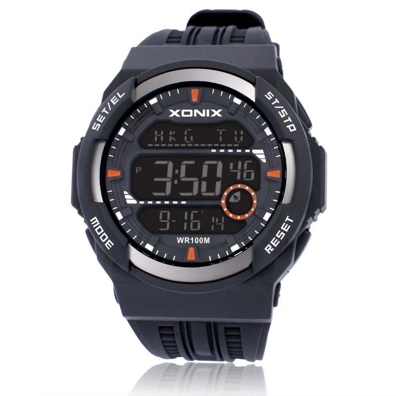 Reloj de pulsera deportivo para hombre, reloj Digital para exteriores multifunción, resistente al agua hasta 100m, con luz LED, reloj para escalada y natación