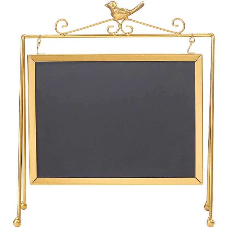 ABLA Desktop Message Blackboard Easel Chalkboard Kids Memo Black Board Writing Boards Big