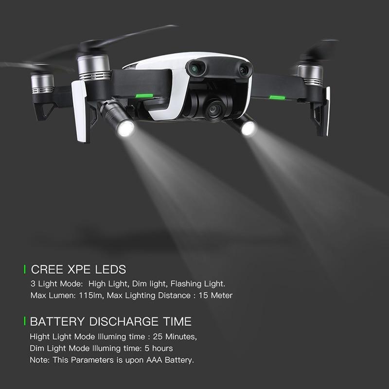 2 шт. Дрон ночной полет светодиодный свет фотография заполняющий свет фонарик вращение на 360 градусов для DJI mavic air Drone аксессуары