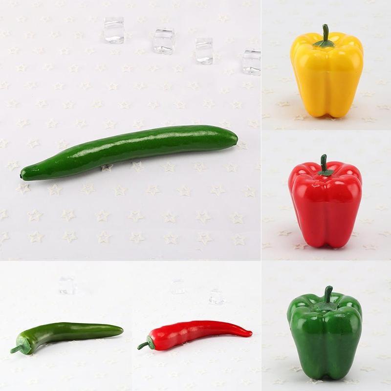 Kunststoff Künstliche Gemüse Simulation gurke Banana Lebensechte grün pfeffer Küche Fotografie Requisiten Dekoration