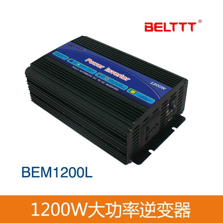 Dispositivo doméstico de 12V 1200W, inversor de potencia del inversor de onda sinusoidal modificada, inversor fuera de red hecho en China