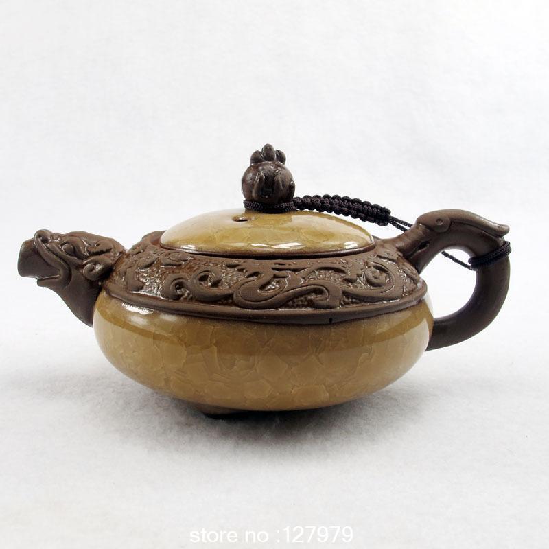 On sale Ice crack glaze teapot Yixing teapot purple clay tea pot teaset puer oolong 9 color optional about 180ml