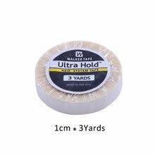 1 rouleau 1cm * 3 yards super cheveux blanc ruban adhésif double face pour extension de cheveux/perruque de dentelle/toupet