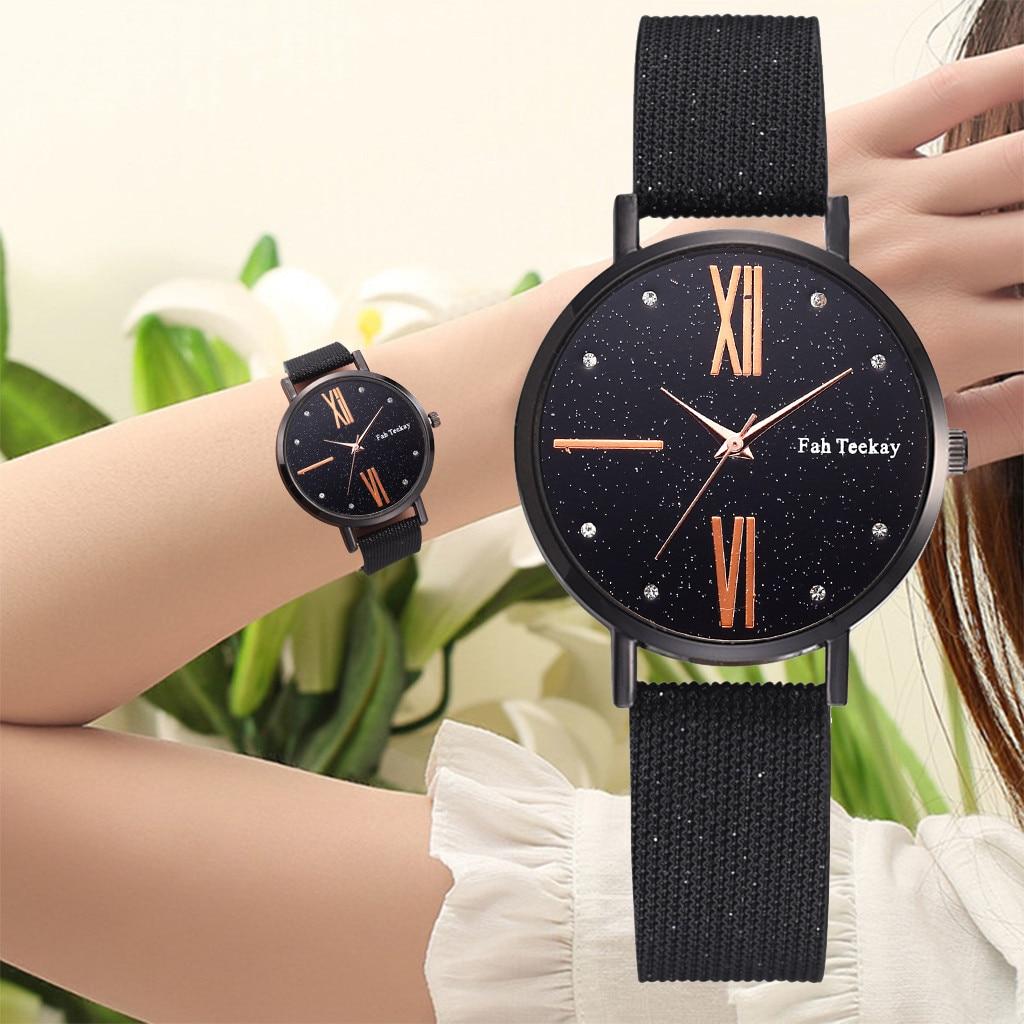 Women Men Watches Fashion Simple Black Ladies Watch Digital Roman Scale Dial PU Belt Quartz Female Wristwatch relogio #ASS