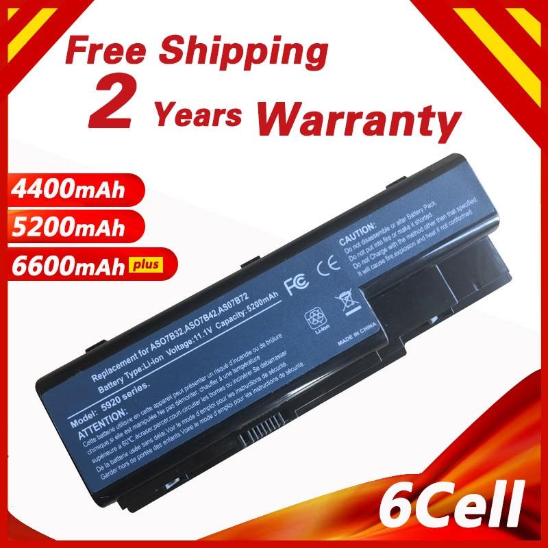 Аккумулятор Golooloo для Acer Aspire 6530 6530G 6920 6920G 6930 6930G 6935 6935G 7220 7230 7235 7330 7520G 7520 7530G 7535