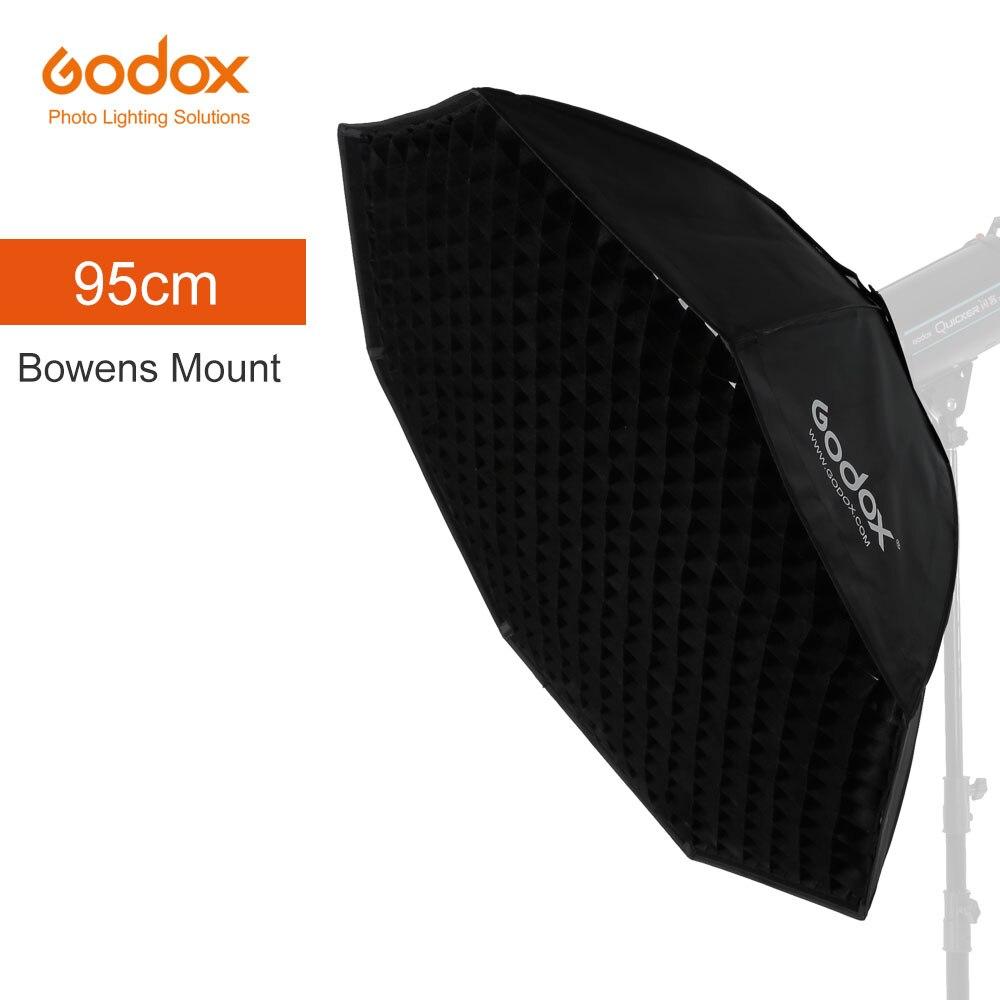 """Godox Pro 95 cm 37 """"Octagon Honeycomb rejilla Softbox Reflector Softbox con soporte Bowens para luz estroboscópica de estudio"""