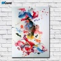Peinture a lencre abstraite de danse de Ballet  tableau dart mural  decor de maison  salon  toile moderne  sans cadre