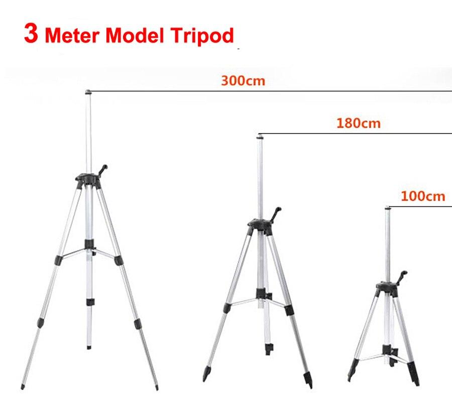 1.2m 3m Meter High Strong Alloy Laser Level Tripod For Red Green Laser Level enlarge