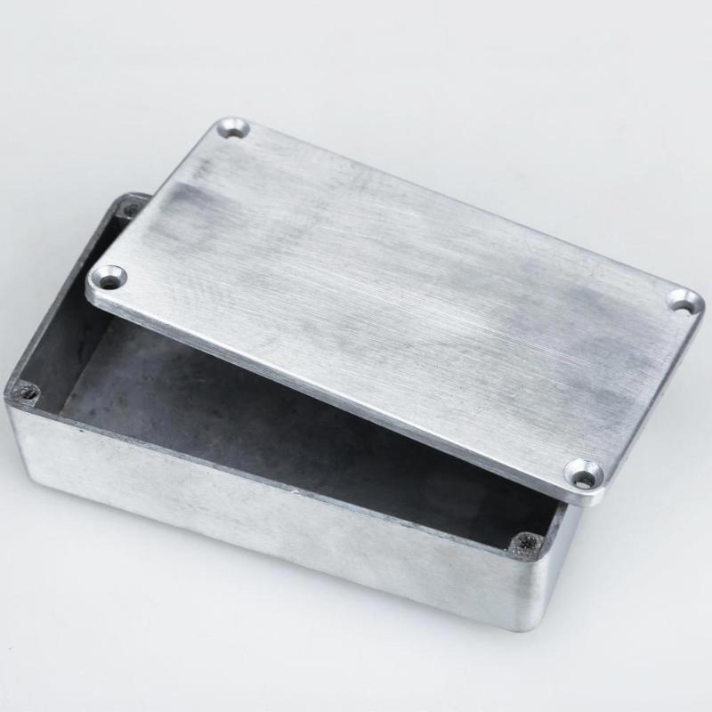 1590B caja de Pedal de efectos de estilo de aluminio carcasa de guitarra instrumentos musicales cajas de almacenamiento titular accesorios de guitarra