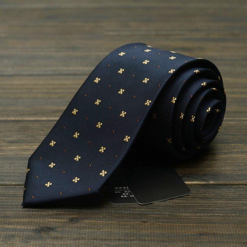 Fashion Men Tie 7cm Navy Blue Neck Floral Ties for Men Necktie Classic Wear Business Wedding Tie Party Gravatas with Gift Box