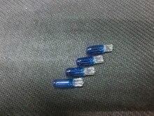 10 pçs dc 12v 2w 286 t5 w2w azul vidro lâmpada do carro lâmpadas de halogéneo automóvel cunha painel calibre instrumento luzes