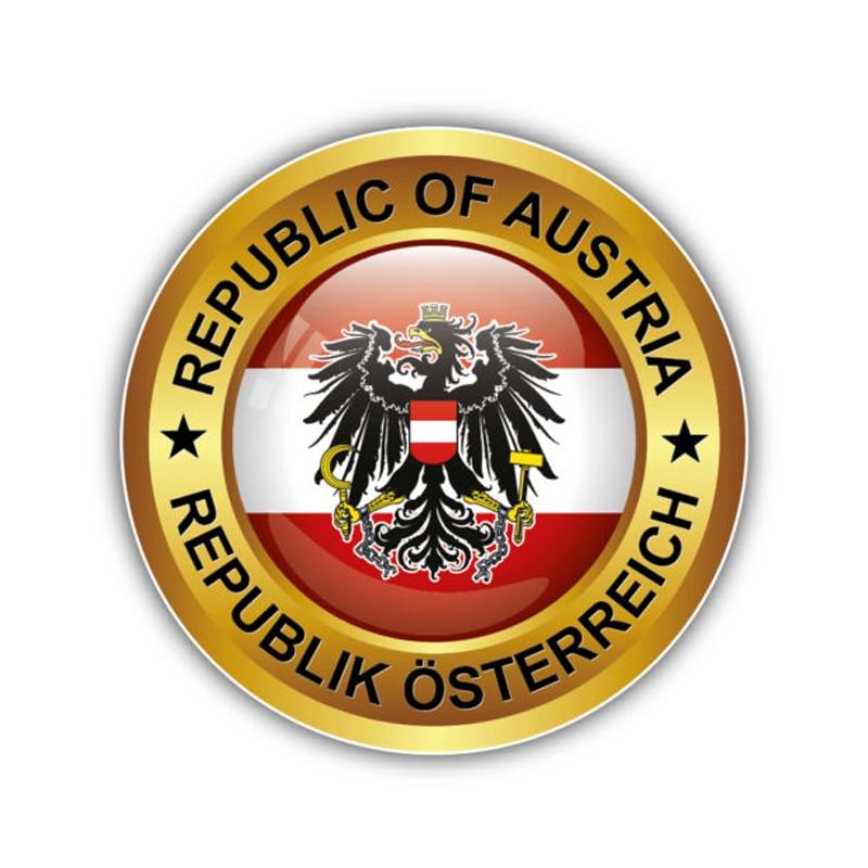 12,5 CM * 12,5 CM pegatina de motocicleta Austria Escudo de Armas República pegatina PVC para coche 6-1298