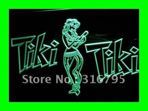 I224 открытый Tiki Бар Wajome Хула танцор светодиодный неоновый светильник знаки Вкл/Выкл Переключатель 20 + цвета 5 размеров