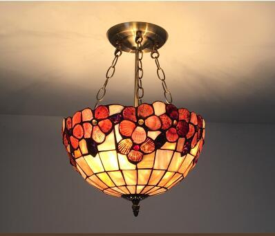 Lámparas colgantes de arte mediterráneo, coloridas y creativas, para entrada, flores, balcón, jardín, pasillo, luces colgantes