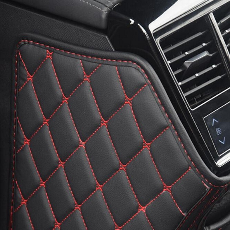 Tonlinker 3 PCS Car Seat back Anti-dirty pad Cover sticker for CITROEN DEESSE DS7 2018-19 Car Styling PU Leather Cover Stickers enlarge