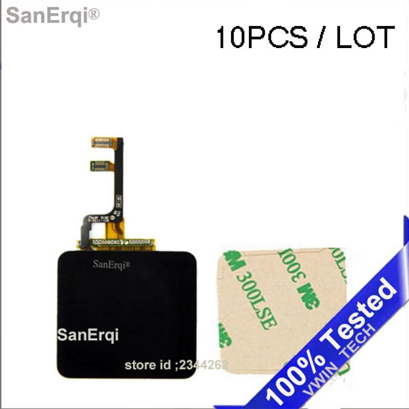 10 Uds para iPod Nano6 Nano 6 6th 6G pantalla LCD + MONTAJE DE digitalizador con pantalla táctil pieza de reparación (+ cinta adhesiva)