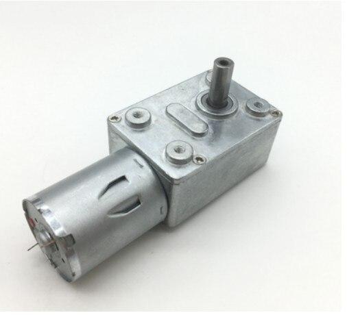 jgy370 dc6v 12v24v 2rpm a 150 rpm redutor de velocidade de torque alto metal worm