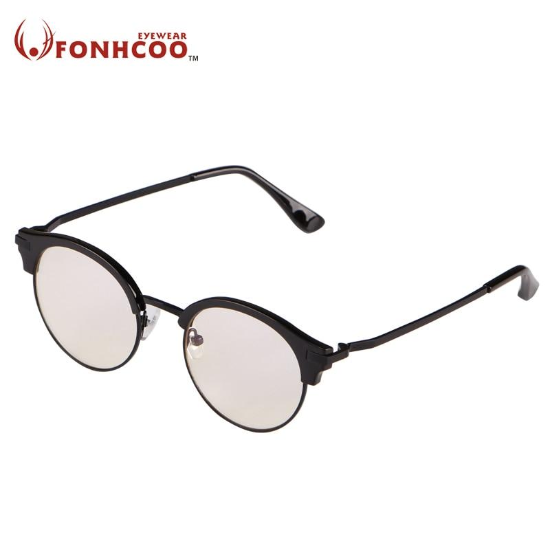 FONHCOO round half frame computer glasses anti-UV anti-blue ray game computer glasses stop eye strain fatigue googles