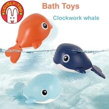 Juguete de baño para niños, ballena giratoria, juguetes de agua para niños, cadena enrollada para nadar, juguetes de piscina giratorios para la playa para niños