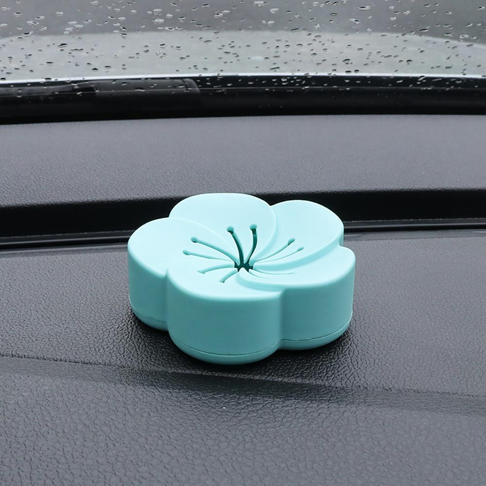 Bálsamo sólido ambientador de coche con flores adhesivas, difusor de fragancias internas para el coche, caja de zapatos para el hogar, purificador de aire para Baño