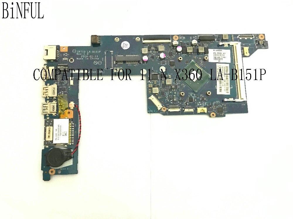 شحن سريع. العلامة التجارية الجديدة. ZPT10 LA-B151P محمول لوحة رئيسية لأجهزة HP 11-N X360 بلاكا مع المعالج على متن