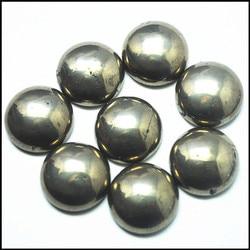 10 pcs natural pirita pedra cabochão forma redonda de contas de ouro de tolo táxis 8mm 12mm 16mm rodada forma natural mineral