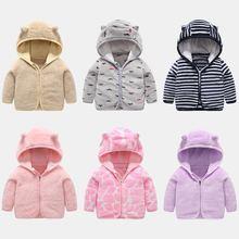 Veste hauts souple en molleton de corail, vêtements multicolores pour bébés, garçons et filles, printemps-automne vêtements dextérieur chauds