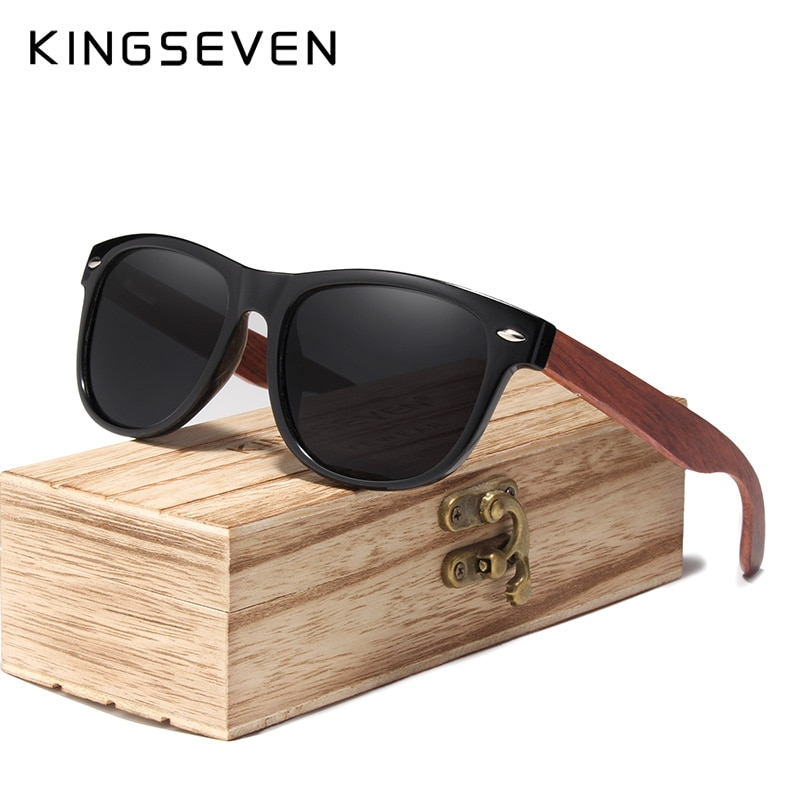 KINGSEVEN Gray Lens Sunglasses Polarized Square 2019 Luxury Brand Design Vintage Sun Glasses For Women Oculos de sol masculino