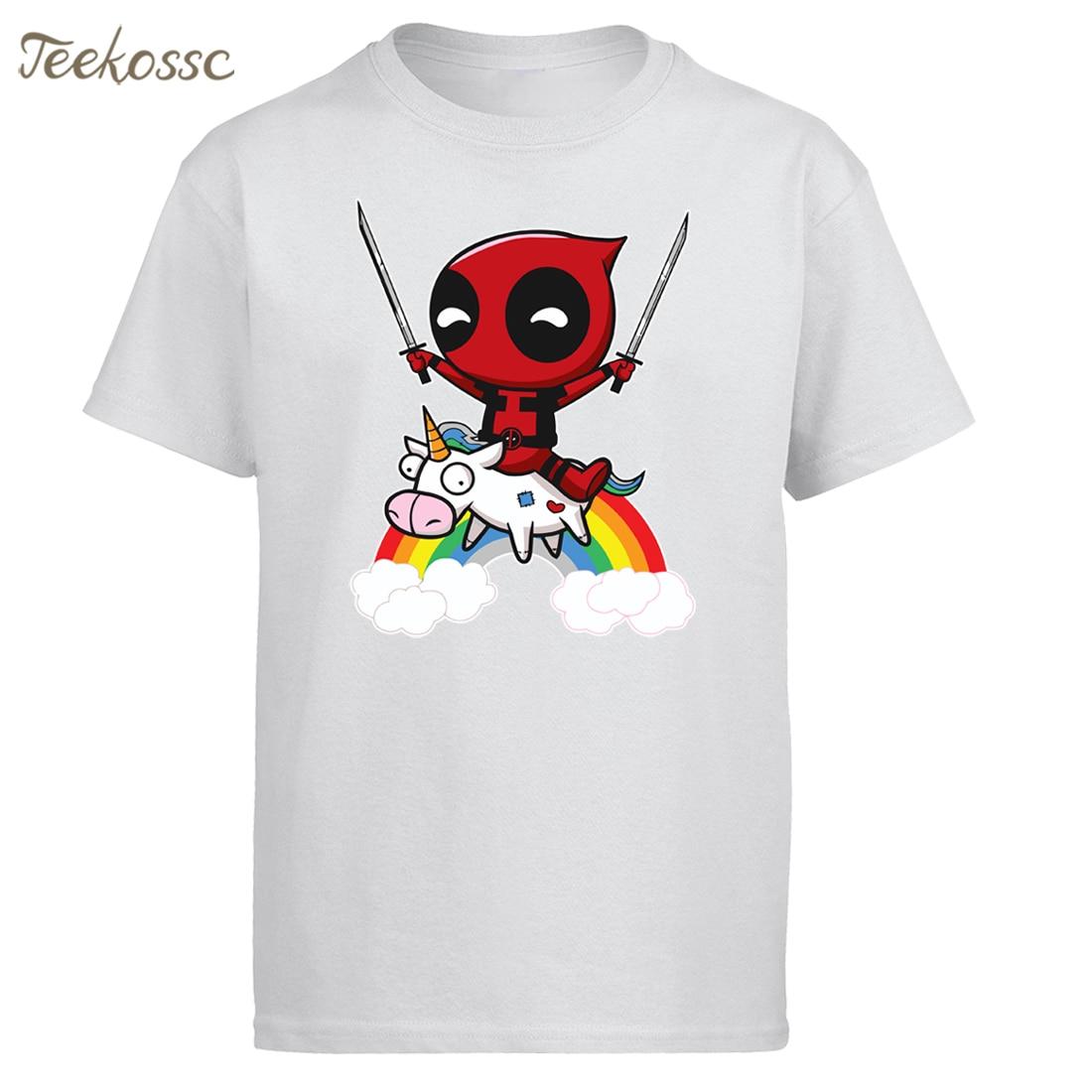 Мужская забавная футболка Deadpool, новинка 2018, брендовые летние мужские футболки, хлопковая Футболка с принтом «мертвый бассейн», Camiseta Homme