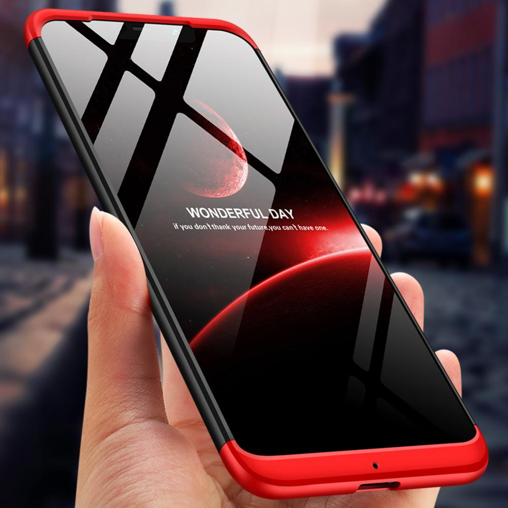 GKK For Xiaomi Pocophone F1 case 3 in 1 360 Full Protection Anti-knock Hard PC Cover for pocophone f
