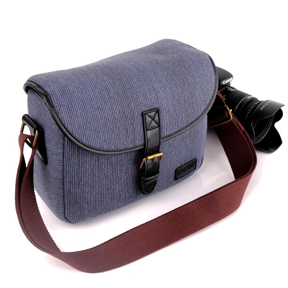 Retro Canvas DSLR Camera Bag Photo Case For Olympus E-M1 E-M5 E-M5 Mark ii E-M10 Mark III II PEN-F E-PL9 E-PL8 E-PL7 EPL6