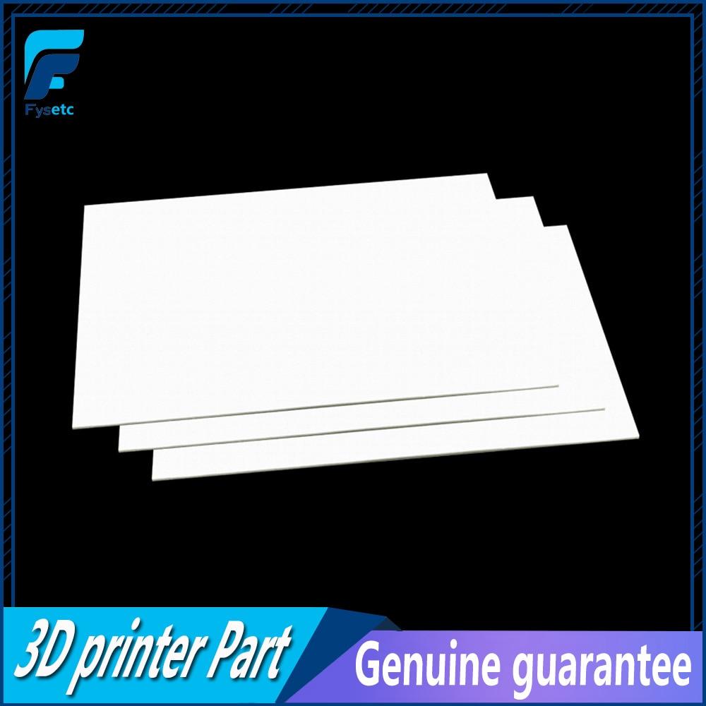 10 قطعة/الوحدة 3 مللي متر سمك 3D طابعة التدفئة السرير كتلة العزل القطن ل FlashForg الخالق برو/الحالم 3D طابعة 232*154*3 مللي متر